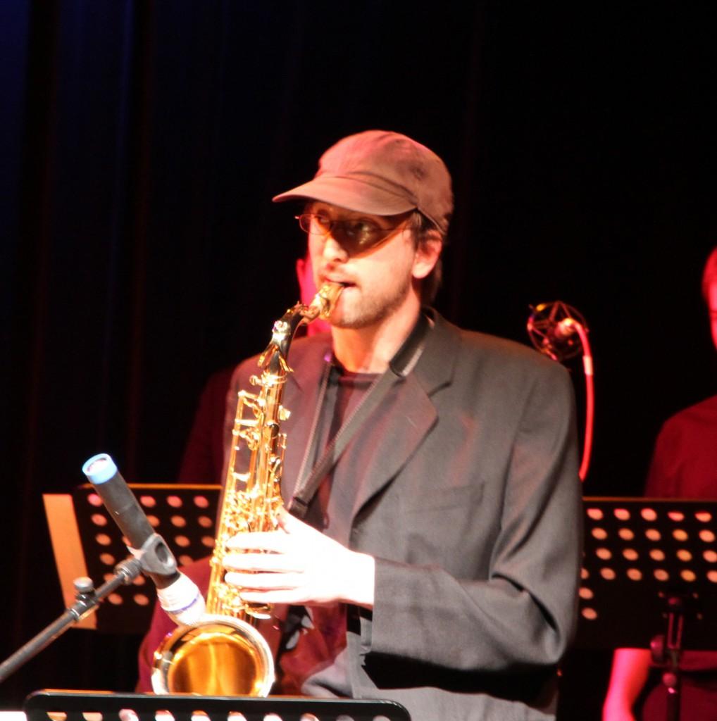 Niels auf der Bühne